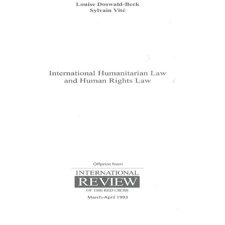 International humanitarian law and human rights law