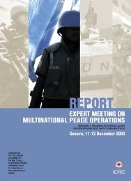 Report of the Expert Meeting on Multinational peace operations.