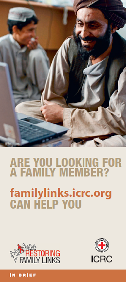 Are you looking for a family member? familylinks.icrc.org can help you